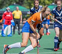 AMSTELVEEN - Michelle van der Drift (Bldaal)  tijdens de oefenwedstrijd tussen de dames van Bloemendaal en Pinoke   ter voorbereiding van het hoofdklasse hockeyseizoen 2020-2021.  COPYRIGHT KOEN SUYK