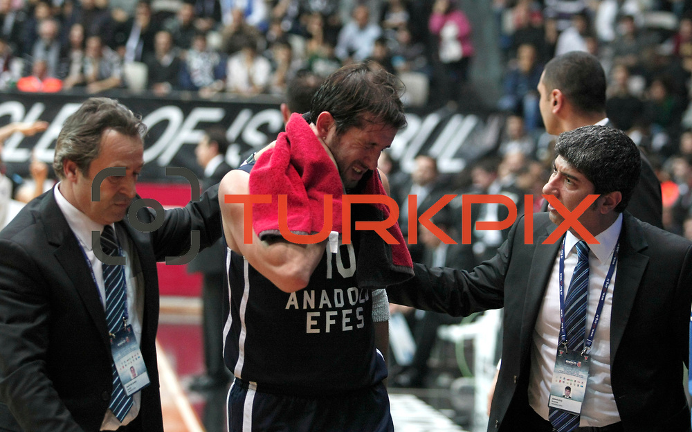 Anadolu Efes's Kerem Tunceri during their Turkish Basketball league derby match Besiktas between Anadolu Efes at the BJK Akatlar Arena in Istanbul Turkey on Saturday 31 December 2011. Photo by TURKPIX