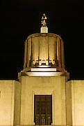 The Oregon State Capitol at night,  Salem, Oregon