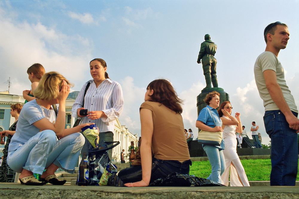Russia / Nizhni Novgorod / People having fun in a park at saturday afternoon...© JOAN COSTA