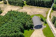 Nederland, Utrecht, Gemeente Soest, 30-09-2015. Nationaal Voormalige vliegbasis Soesterberg, shelter  voor vlirgtuigen (f16).<br /> Former Soesterberg airbase.<br /> <br /> luchtfoto (toeslag op standard tarieven);<br /> aerial photo (additional fee required);<br /> copyright foto/photo Siebe Swart