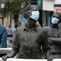 Sculpture with Face Masks