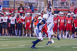 NORMAL, IL - September 04: Johnny O'Shea during a college football game between the Bulldogs of Butler University and the ISU (Illinois State University) Redbirds on September 04 2021 at Hancock Stadium in Normal, IL. (Photo by Alan Look)