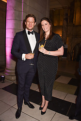 James Norton and his sister Jessica Norton at The Sugarplum Dinner 2017 to benefit the type 1 diabetes charity JDRF held at the Victoria & Albert Museum, Cromwell Road, London England. 14 November 2017.