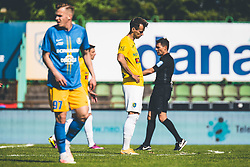 Mustafa Nukić of NK Bravo during football match between NK Bravo and NK Celje in 32nd Round of Prva liga Telekom Slovenije 2020/21, on May 4, 2021 in Sports park Domzale, Slovenia. Photo By Grega Valancic / Sportida