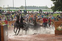 Georg Von Stein, (GER), Joy, Lando, Nautilus, Nico T, Odin - Driving Marathon - Alltech FEI World Equestrian Games™ 2014 - Normandy, France.<br /> © Hippo Foto Team - Dirk Caremans<br /> 06/09/14