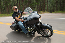 Aidan's Ride to raise money for the Aiden Jack Seeger nonprofit foundation to help raise awareness and find a cure for ALD (Adrenoleukodystrophy) during the annual Sturgis Black Hills Motorcycle Rally. Riding between Nemo and Rapid City, SD, USA. Tuesday August 8, 2017. Photography ©2017 Michael Lichter.
