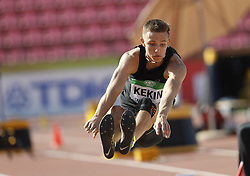 July 10, 2018 - Tampere, Suomi Finland - 180710 Friidrott, Junior-VM, Dag 1: Stepan Kekin ANA competes in men's Decathlon Long jump during the IAAF World U20 Championships day 1 at the Ratina stadion 10. July 2018 in Tampere, Finland. (Newspix24/Kalle Parkkinen) (Credit Image: © Kalle Parkkinen/Bildbyran via ZUMA Press)