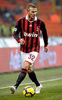 David Beckham (Milan)<br /> Milano 17/01/2010 Stadio Giuseppe Meazza San Siro<br /> Milan Siena - Campionato di calcio Serie A Tim 2009-10.<br /> Foto Giorgio Perottino / Insidefoto