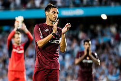 August 1, 2018 - MalmÅ, SVERIGE - 180801 Camora of Cluj looks looks dejected after the UEFA Champions League qualifying match between MalmÅ¡ FF and Cluj on August 1, 2018 in MalmÅ¡..Photo: Mathilda Ahlberg / BILDBYRN / Cop 178  (Credit Image: © Mathilda Ahlberg/Bildbyran via ZUMA Press)