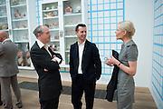 ADRIAN DANNATT; MATHEW SLOTOVER; EMILY KING, Damien Hirst, Tate Modern: dinner. 2 April 2012.