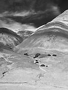 The Bentonite Hills near Hanksville, Utah.
