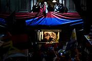 20200927/ Javier Calvelo - adhocFOTOS/ URUGUAY/ MONTEVIDEO/ Elecciones Departamentales y Municipales del 27 de setiembre de 2020 postergadas por la Ley N° 19.875 del 8 de abril de 2020 debido a la pandemia de Covid-19. <br /> Carolina Cosse, candidata a intendenta por el partido Frente Amplio, para esperar los resultados concurrió a la sede del Frente Amplio en Montevideo. <br /> En la foto: Carolina Cosse como intendenta electa en la sede del Frente Amplio en Montevideo. Foto: Javier Calvelo / adhocFOTOS