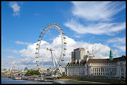 September 11, 2017 - London, London, United Kingdom - Image ©Licensed to i-Images Picture Agency. 11/09/2017. London, United Kingdom. Sunny day in London. Westminster. View of London Eye on a sunny day with blue skies over London. Picture by Dinendra Haria / i-Images (Credit Image: © Dinendra Haria/i-Images via ZUMA Press)