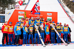 Team Norway during Flower ceremonies after the Ski Flying Hill Individual Competition at Day 4 of FIS Ski Jumping World Cup Final 2018, on March 25, 2018 in Planica, Ratece, Slovenia. Photo by Ziga Zupan / Sportida