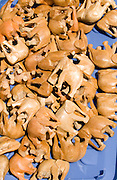 Small pocket size wood elephants believed to bring good luck. Dragon Festival Lake Phalen Park St Paul Minnesota USA