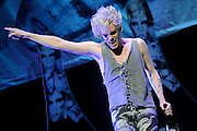 Semi Precious Weapons performing at the Scottrade Center in St. Louis on July 17, 2010