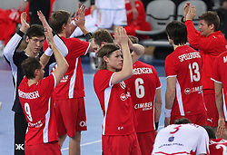 Team of Denmark after 21st Men's World Handball Championship 2009 Bronze medal match between National teams of Poland and Denmark, on February 1, 2009, in Arena Zagreb, Zagreb, Croatia.  Won of Poland 31:23. (Photo by Vid Ponikvar / Sportida)