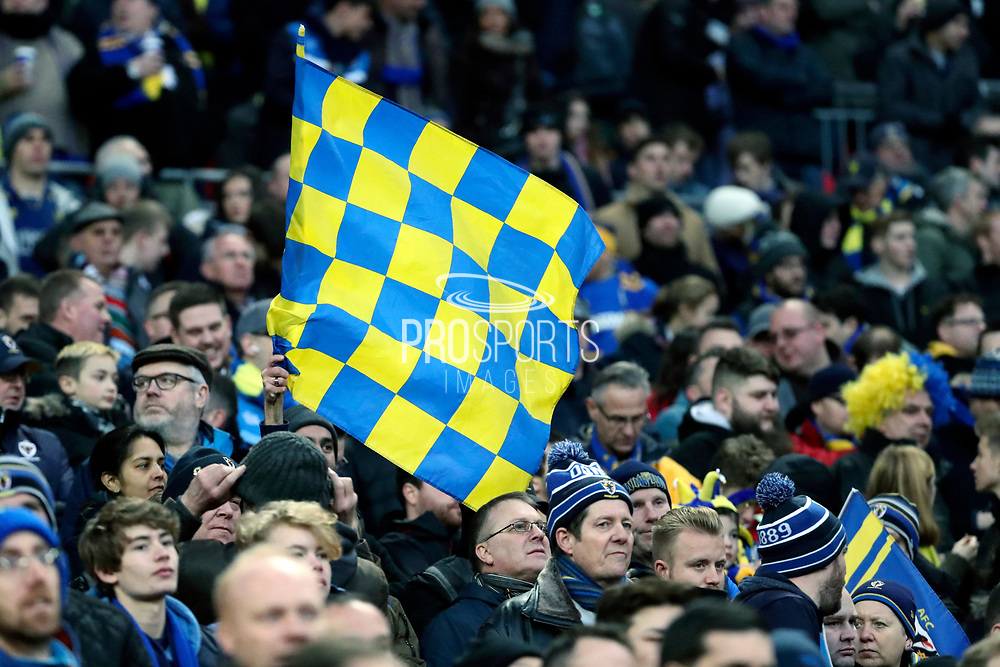 AFC Wimbledon flag during the The FA Cup 3rd round match between Tottenham Hotspur and AFC Wimbledon at Wembley Stadium, London, England on 7 January 2018. Photo by Matthew Redman.