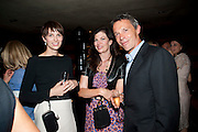 MELODY CROWDY; CAITLIN MAVROLEON; MARK CROWDY, Book party for Janine di Giovanni's Ghosts by Daylight. Blake's Hotel. South Kensington. London. 12 July 2011. <br /> <br />  , -DO NOT ARCHIVE-© Copyright Photograph by Dafydd Jones. 248 Clapham Rd. London SW9 0PZ. Tel 0207 820 0771. www.dafjones.com.
