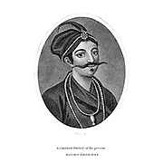 A Chinese Prince of the Manchoo Tartar Race Copperplate engraving From the Encyclopaedia Londinensis or, Universal dictionary of arts, sciences, and literature; Volume IV;  Edited by Wilkes, John. Published in London in 1810
