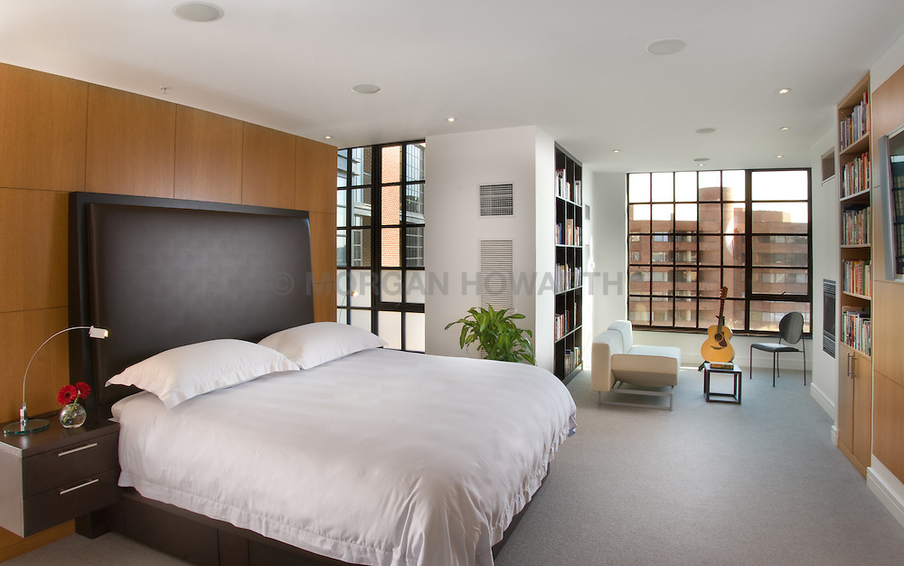 Modern loft condo apartment in Washington DC Master bedroom