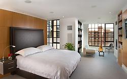 Modern loft condo apartment in Washington DC Master bedroom