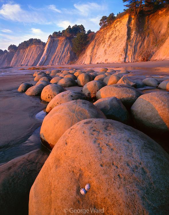 Sunset on Bowling Ball Beach,Schooner Gulch State Park,Mendocino Coast, California