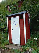 """""""Public Privy"""" with instructions of """"B.Y.O.T.P."""", ghost town of Kennicott, Wrangell-St. Elias National Preserve, Alaska."""