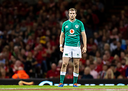 Jack Carty of Ireland<br /> <br /> Photographer Simon King/Replay Images<br /> <br /> Friendly - Wales v Ireland - Saturday 31st August 2019 - Principality Stadium - Cardiff<br /> <br /> World Copyright © Replay Images . All rights reserved. info@replayimages.co.uk - http://replayimages.co.uk