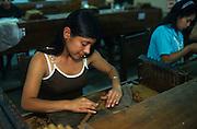 """Santa Rosa de Copàn: """"La Flor de Copàn cigar factory"""", where the cigars are hand-rolled made."""