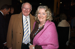 SIR BILL & LADY COTTON at the annual House of Lords and House of Commons Parliamentary Palace of Varieties in aid of Macmillan Cancer Support held at St.John's Smith Square, London W1 on 1st February 2007.<br /><br />NON EXCLUSIVE - WORLD RIGHTS