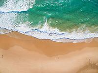 Aerial view of popular blue flag Guincho beach.