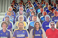 Cardboard cut out of fans behind the goal during the EFL Sky Bet League 1 match between AFC Wimbledon and Bristol Rovers at Plough Lane, London, United Kingdom on 5 December 2020.
