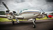 Beechcraft Travelair at Wings and Wheels at Oregon Aviation Historical Society.