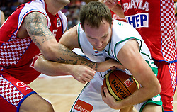 Samo Udrih (6) of Slovenia during the EuroBasket 2009 Quaterfinals match between Slovenia and Croatia, on September 18, 2009, in Arena Spodek, Katowice, Poland.  (Photo by Vid Ponikvar / Sportida)