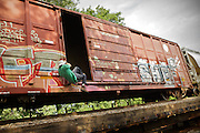"Hopping freight train from  La Crosse to Bay View (along the Mississipi river) near Milwaukee, with 43 year old Hobo named Stretch. ..Life of a Hobo nicknamed Stretch. Stretch was elected Hobo King in 2009, at the National Hobo convention. A Hobo is a term which is applied to a migratory worker or homeless vagabond, often penniless. Hobos move around the country, looking for work by hopping illegally on freight trains, which can be a dangerous enterprise. Modern freight trains are much faster and harder to ride than in the 1930s, but can still be boarded in railyards..The first and most important rule of the hobo code is 'decide your own life', which meant 'do what you want to do'...A 4-weeks road trip across the USA, from New York to San Francisco, on the steps of Jack Kerouac's famous book ""On the Road"".  Focusing on nomadic America: people that live on the move across the US, out of ideology or for work reasons."