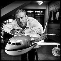 Nederland, Amstelveen , 23 februari 2015.<br /> Paul Sluis,  Senior Brandmanager B2C & Social Media at KLM.<br /> Foto:Jean-Pierre Jans