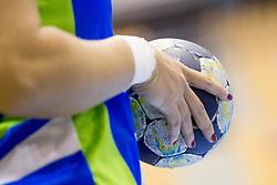 Ball during handball match between Women National Teams of Slovenia and Czech Republic of 2nd Round of EURO 2018 Qualifications, on 1st October, 2017 in Dvorana Zlatorog, Celje, Slovenia. Photo by Urban Urbanc / Sportida