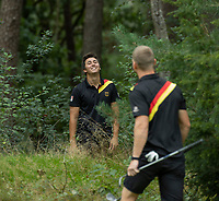 HILVERSUM - German Nick Bachem (r) and Marc Hammer during the foursomes. .   ELTK Golf 2020 The Dutch Golf Federation (NGF), The European Golf Federation (EGA) and the Hilversumsche Golf Club will organize Team European Championships for men.  COPYRIGHT KOEN SUYK