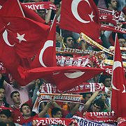Turkey's supporters during their UEFA EURO 2012 Qualifying round Group A matchday 19 soccer match Turkey betwen Germany at TT Arena in Istanbul October 7, 2011. Photo by TURKPIX