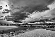 Storm clouds over the Owens Valley near Olancha, Inyo County, Eastern Sierra, California