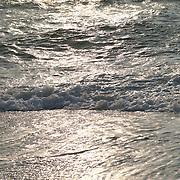 Reflection of sunlight on sea