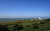 """The world's largest and most famous yachting race, the 'Round the Island Race'. Nearly 1,600 boats compete over the 50-mile course around the Isle of Wight."""