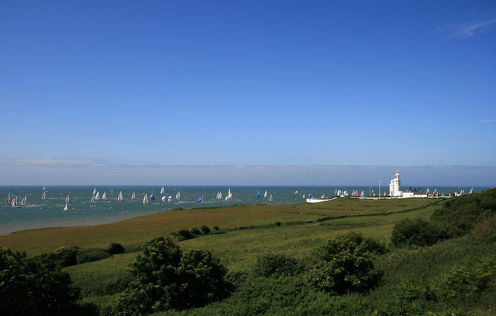 """""""The world's largest and most famous yachting race, the 'Round the Island Race'. Nearly 1,600 boats compete over the 50-mile course around the Isle of Wight."""""""
