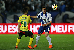 March 11, 2018 - Pacos Ferreira, Pacos Ferreira, Portugal - Porto's Portuguese defender Diogo Dalot (R) in action with Pacos Ferreira's Portuguese forward Xavier (L) during the Premier League 2017/18 match between Pacos Ferreira and FC Porto, at Mata Real Stadium in Pacos de Ferreira on March 11, 2018. (Credit Image: © Dpi/NurPhoto via ZUMA Press)