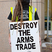 LONDON, ENGLAND - SEPTEMBER 08:  Protestors target the  Legal and General in the City of London during a march to demonstrate against the Arm Trade Exhibition at Excel on September 8, 2009 in London, England.  (Photo by Marco Secchi/Getty Images)