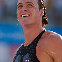 Ryan Lochte (USA) competes in the 200 m Men's Individual Medley Swimming competition during the 13th FINA Swimming World Championships held in Rome, Italy. Thursday, 30. July 2009. ATTILA VOLGYI