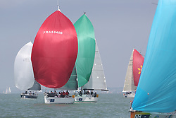 Brewin Dolphin Scottish Series 2014, the start of an International IRC competition racing on the Solent off Cowes and hosted by the RORC.<br /> <br /> France 5040 Beelzebuth 3 of France RED,<br /> <br /> Credit: Marc Turner