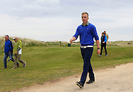 Thomas Mulligan (Co. Louth) walks off the 9th tee during Round 1 of the East of Ireland Amateur Open Championship at Co. Louth Golf Club, Baltray on Saturday 30th May 2015.<br /> Picture:  Thos Caffrey / www.golffile.ie